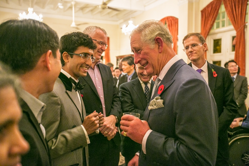 Karan Tilani World of Diamonds and HRH Prince Charles