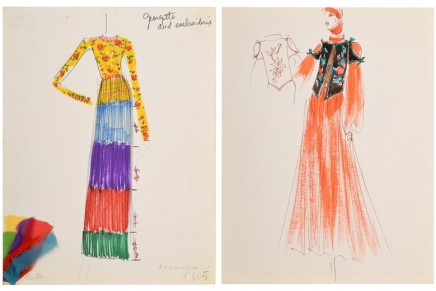 Karl Lagerfeld's Earliest Fashion Sketches for Tiziani at Auction