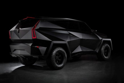This massive SUV draws inspiration from stealth jets