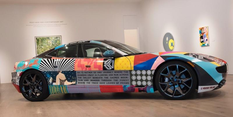 Karma Automotive's Artist Series - 2018- OC Artist James Verbicky Unveils Karma Revero Art Car