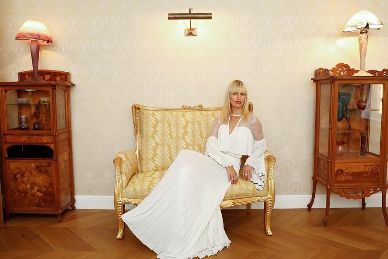 Karolina Kurkova at Perrier-Jouët Cellar
