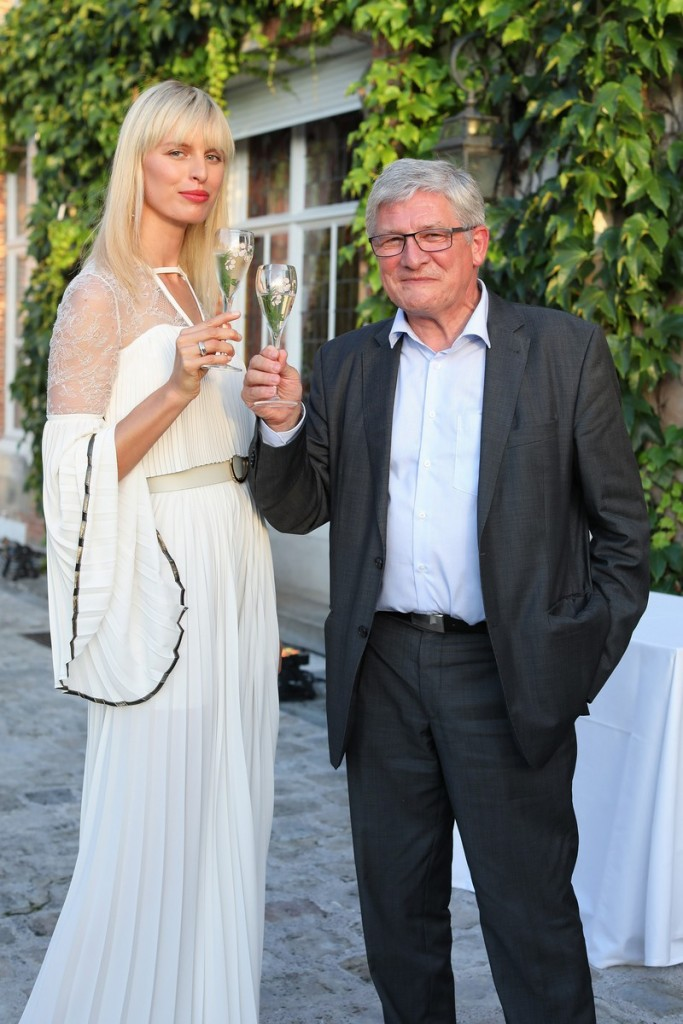 Karolina Kurkova with Perrier-Jouët Cellar master Hervé Deschamps