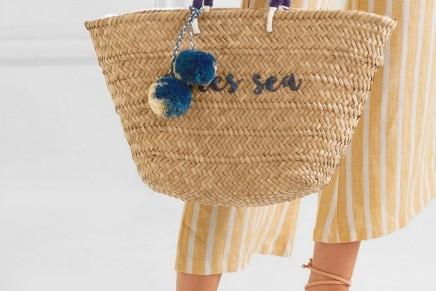 How to wear: a straw basket