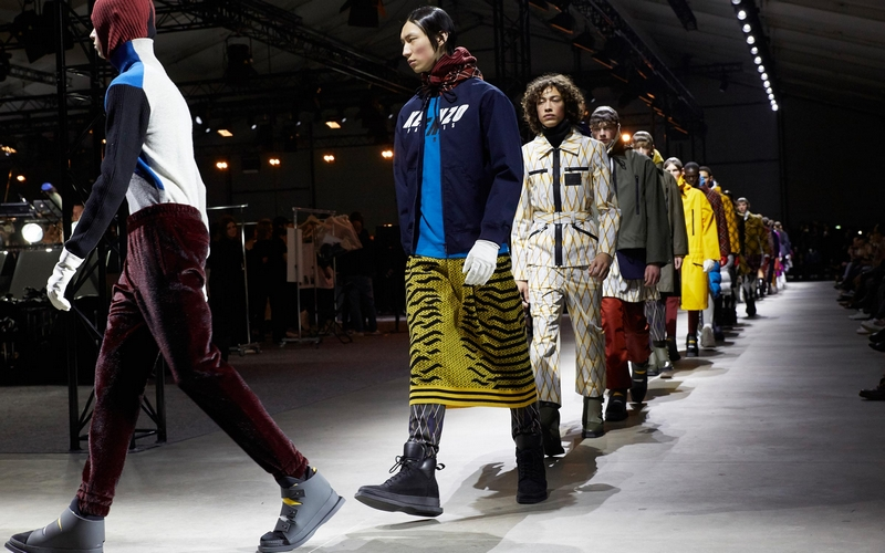 Kenzo closed Paris Men's Fashion Week with Fall-Winter 2017 looks for both sexes-