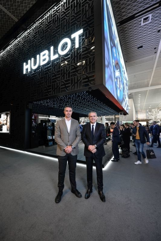 Kevin Pietersen, HUBLOT new friend of the brand, and Ricardo Guadalupe, HUBLOT CEO 2019