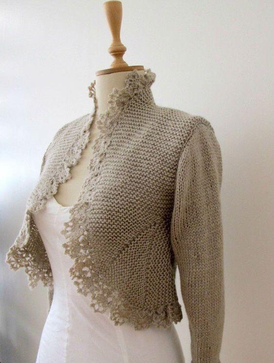Knitting shrug