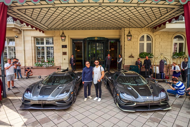 Koenigsegg ghost Squadron 2018 - presenting the keys to Thor and Väder to their lucky owners