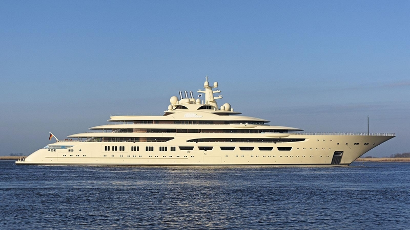 Lürssen's Superyacht Dilbar was named Motor Yacht of the Year 2017 - The 156m superyacht is the world's largest yacht by volume-
