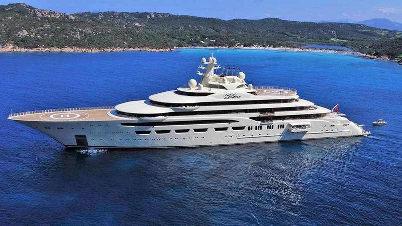 Lürssen's Superyacht Dilbar was named Motor Yacht of the Year 2017 - The 156m superyacht is the world's largest yacht by volume