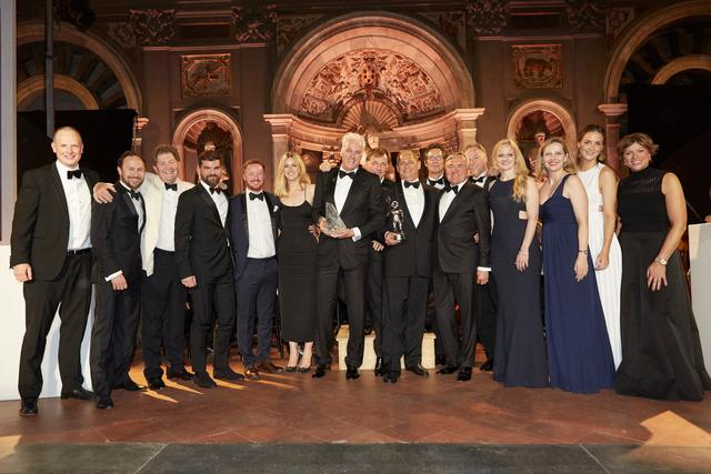 Lürssen's Superyacht Dilbar was named Motor Yacht of the Year 2017 - the ceremony