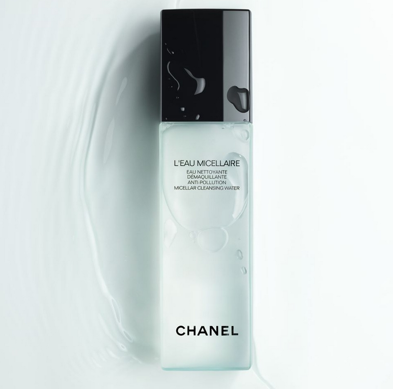 L'EAU MICELLAIRE by CHANEL removes makeup and cleanses all skin types