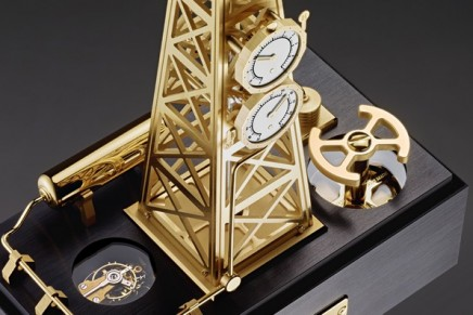 New kinetic timepieces: L'Epée 1839 Gaz Derrick is Extracting Hours and Minutes