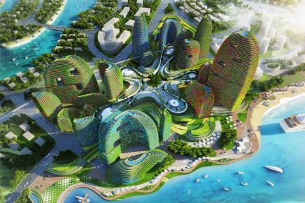This spectacular design for a green Forest City mimics the forest's ecosystem