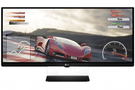 """World's first 21:9 """"UltraWide"""" gaming monitor wth AMD FreeSync introduced at CES 2015"""