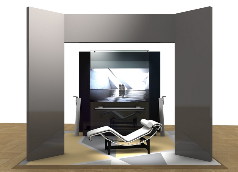 LG SIGNATURE OLED TV with LE CORBUSIER, LC4