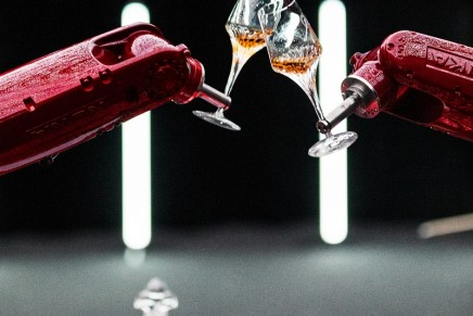 A renowned Jazz composer and advanced robotics create a tribute performance with cognac glasses