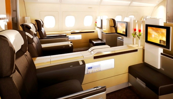 LUFTHANSA FIRST CLASS TO FRANKFURT OR MUNICH ONE-WAY FOR 110,000 MILES