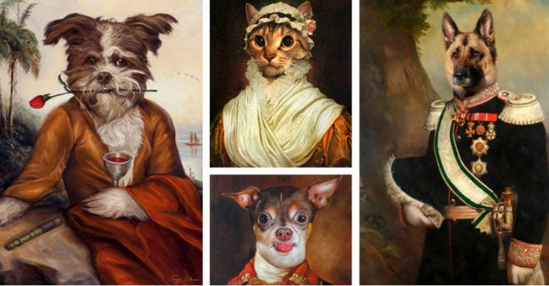 LUXURIOUS WAYS TO CELEBRATE YOU PET'S EXISTENCE - 2 - A Royal Handmade Pet Painting From Photo