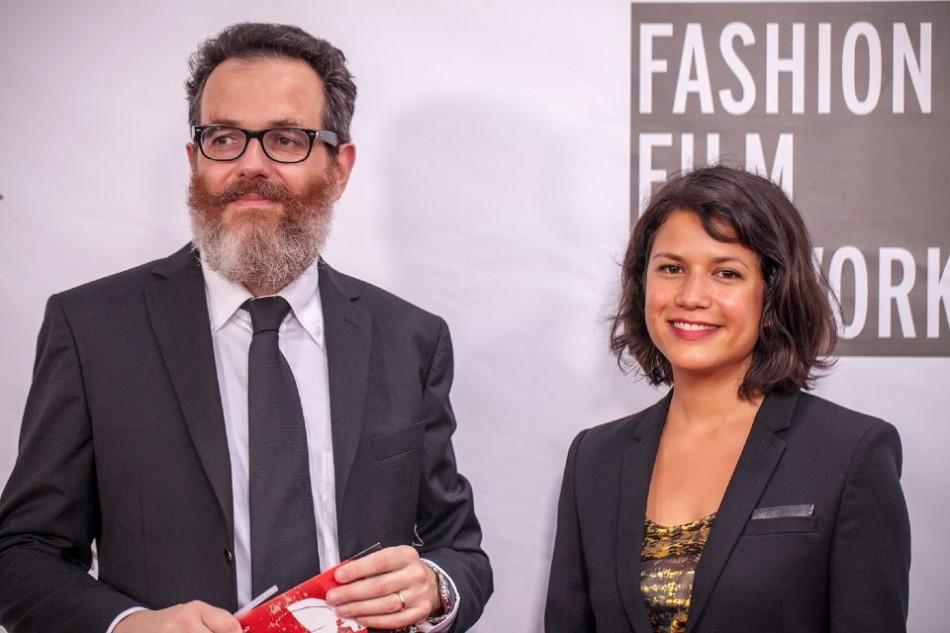 La Jolla Fashion Film Festival 2014-United Nations representatives Simone Cipriani and Chloe Mukai from Geneva Switzerland