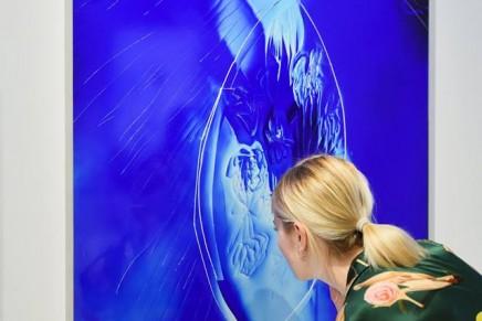 Manon Wertenbroek for La Prairie: A tribute to Niki de Saint Phalle ar Art Basel