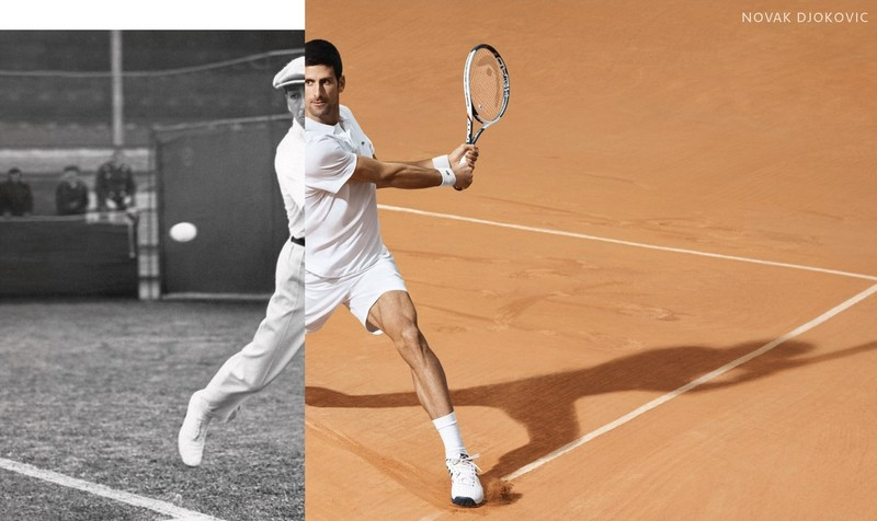 Lacoste has developed for Novak Djokovic an eponymous clothing line to be worn on the tennis court -2017 ad campaign