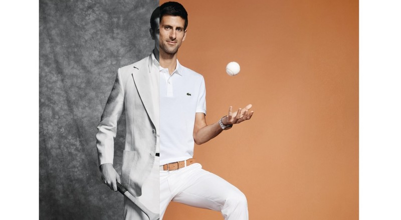 Lacoste has developed for Novak Djokovic an eponymous clothing line to be worn on the tennis court
