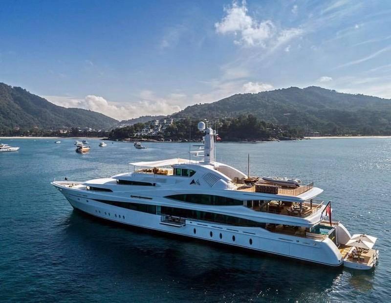 Lady Christine at the Kata Rocks Superyacht Rendezvous 2017