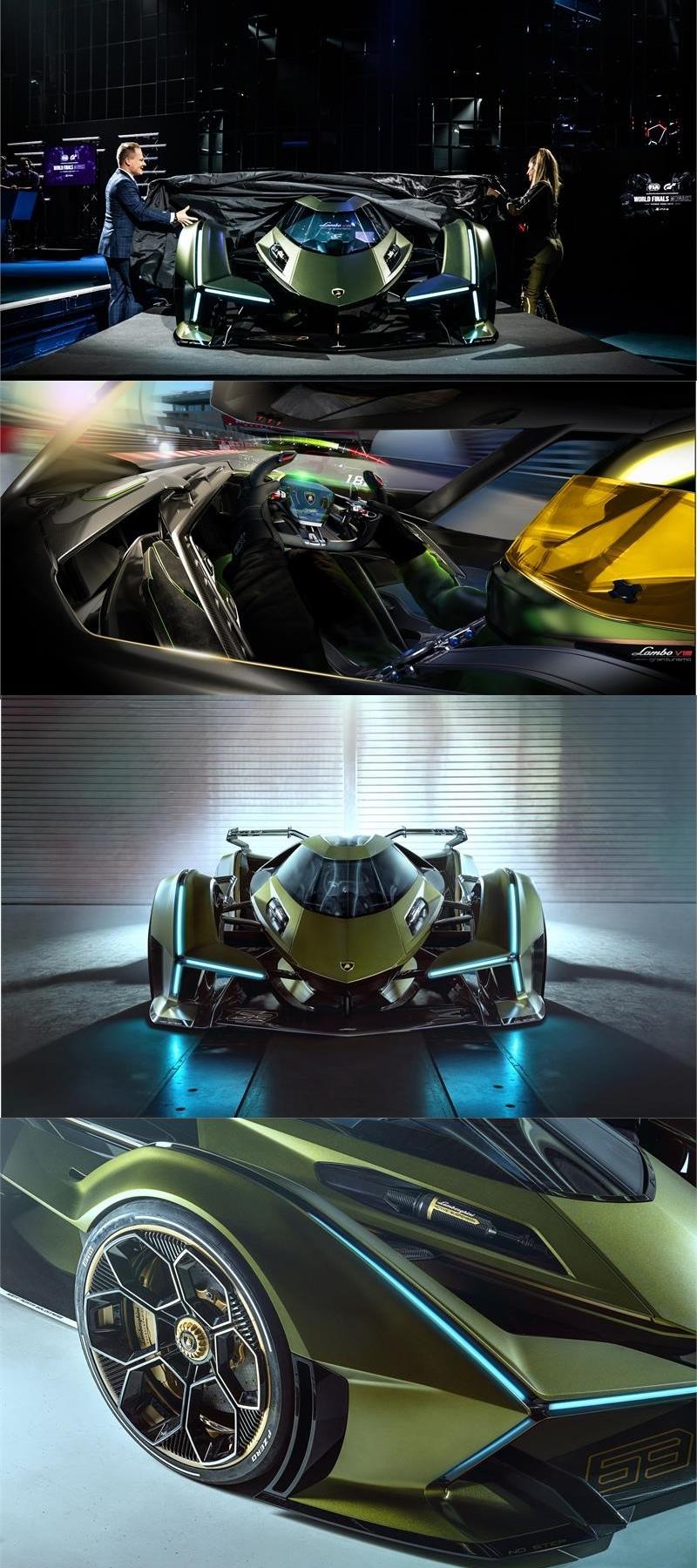 Lamborghini Lambo V12 Vision Gran Turismo unveiled in Monte-Carlo-