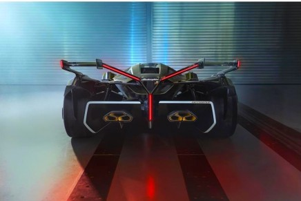 The Lambo V12 Vision GT is a highly visionary concept that is also fun to drive