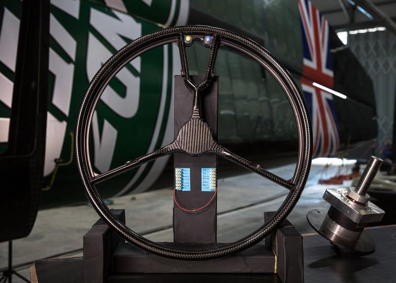 Land Rover BAR steering wheel