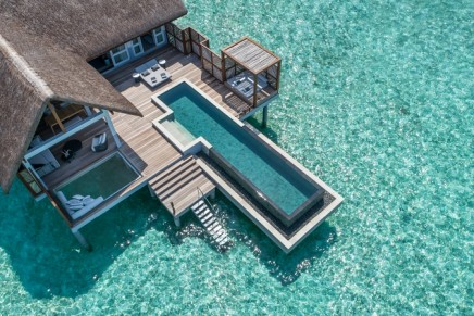 These new all-pool Water Villas make you feel as though you are swimming out into the ocean