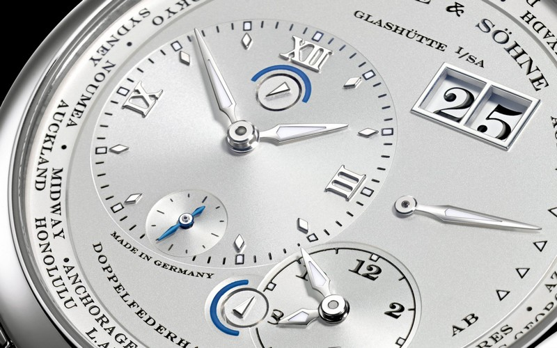 Lange 1 TIME ZONE watch details-