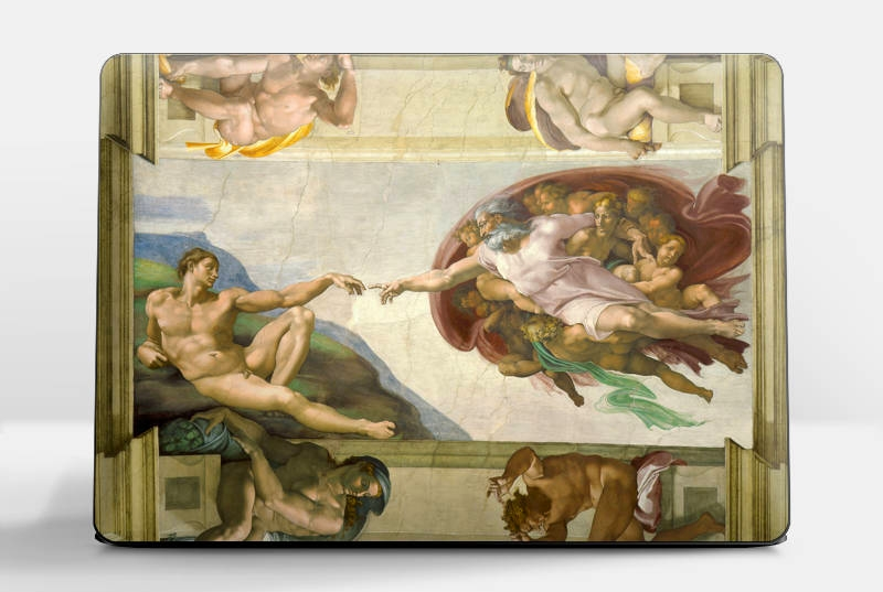 Laptop skin -Michelangelo The Creation of Adam Laptop cover, HP, Lenovo, Dell, Sony, Asus, Samsung