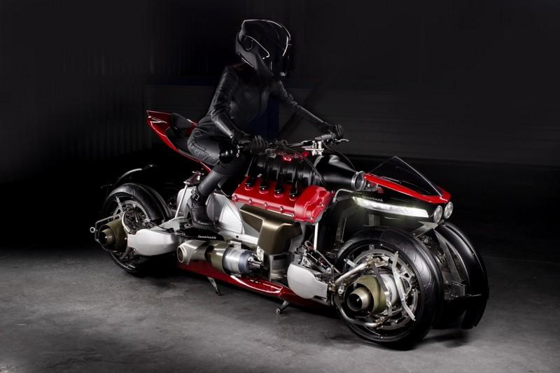 Lazareth's futuristic motorbike transforms into a flying hoverbike-