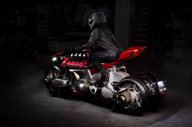 Lazareth's futuristic motorbike transforms into a flying hoverbike