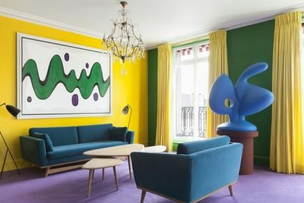 Le Bristol Paris x Bertrand Lavier: a surreal luxury suite inspired by Walt Disney comic strip