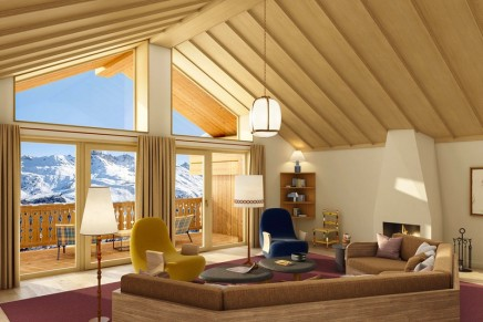 ski-in ski-out: The new 5-star Le coucou interprets mountain lifestyle in a chic and casual way