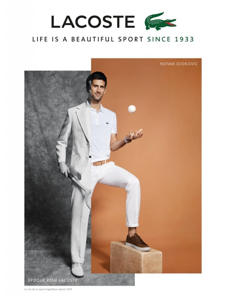 Le Nouveau Crocodile - Novak Djokovic - 2017 advertising campaign