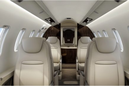 The new Learjet 75 Liberty features the segment's first private Executive Suite