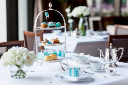 Legendary Tiffany blue inspired a Tiffany Afternoon Tea