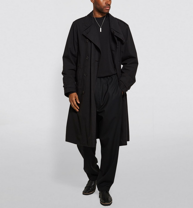 Lemaire Long Double-Breasted Trench Coat