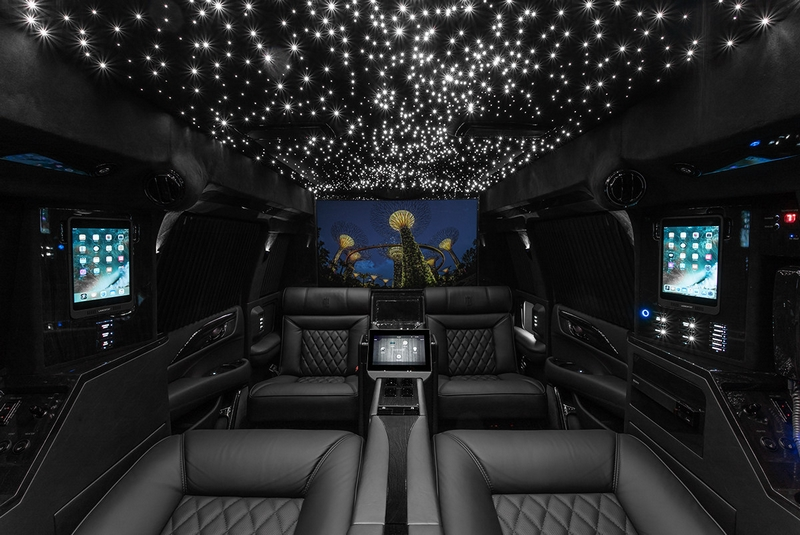 Lexani Motorcars Cadillac Escalade 30 Extended Viceroy Captain's Quarters