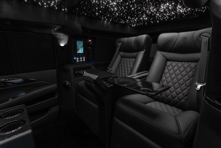 This Bespoke Stretch and Armored Conversion is the World's First 2019 30″ Extended Cadillac Mobile  Office