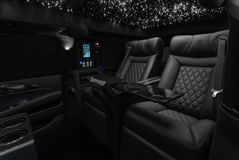 Lexani Motorcars Cadillac Escalade 30 Extended Viceroy Interior Airline Style Tables-