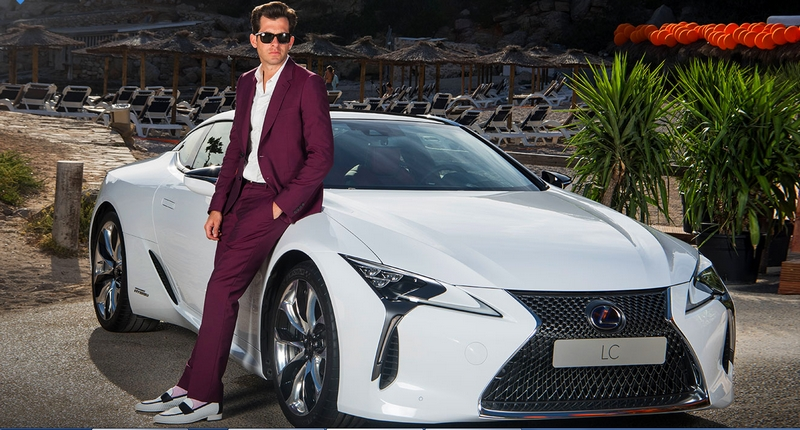 Lexus and Mark Ronson launch the LC at the ultimate driving experience in Ibiza - 2017
