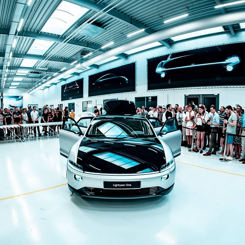 Lightyear One Car Prototype-showcased r to friends and family at Lightyear production facility in Helmond 2019