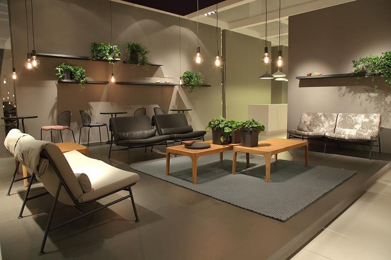Ligne Roset's booth from the 2017 IMM Cologne furniture fair-