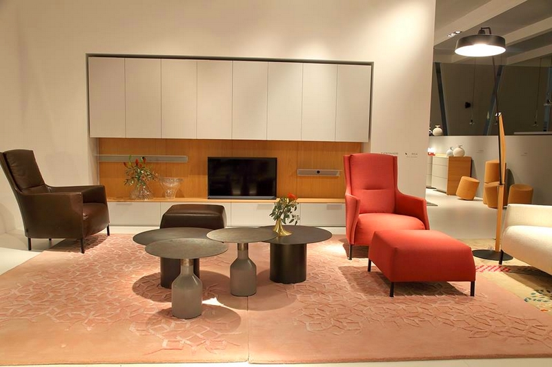 Ligne Roset's booth from the 2017 IMM Cologne furniture fair
