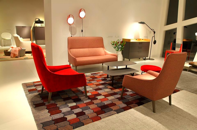 Ligne Roset's booth from the 2017IMM Cologne furniture fair-