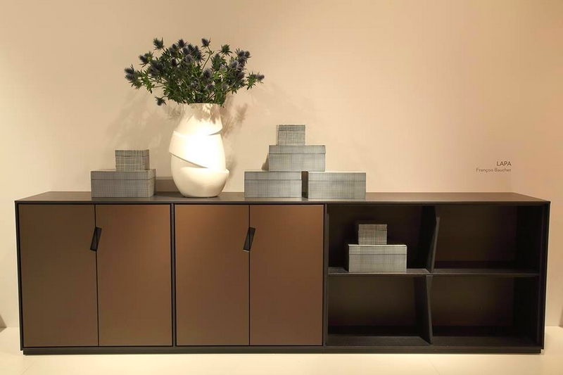 Ligne Roset's booth from the IMM Cologne furniture fair-